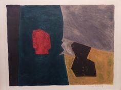 Serge Poliakoff - Composition Bleue, Jaune et Grise