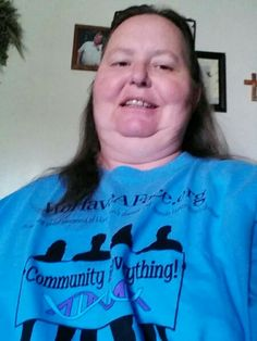Karen sue Outhier purchased our tshirt in support of the huntingtons disease project! Xoxo