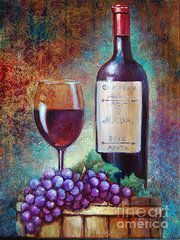 wine barrel canvas painting - Google Search