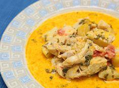 Bacalhau com Batatas e  Leite de Coco - Veja como fazer em: http://cybercook.com.br/bacalhau-com-batatas-r-6-4702.html?pinterest-rec