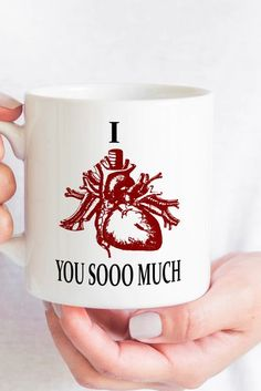 "Order by 14th Jan to guarantee Valentines day delivery. Ceramic 11oz mug dimensions: height - 3.85"" (9.8 cm), diameter - 3.35"" (8.5 cm) 15oz mug dimensions: height - 4.7"" (12 cm), diameter 3.35"" (8.5 cm) Dishwasher and microwave safe Made in China. Printed in the USA and Europe"