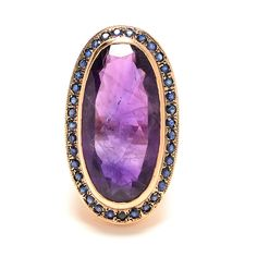 Arik Kastan ~ Amethyst and Sapphire Cocktail Ring