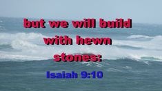Isaiah 9:10   The bricks are fallen down, but we will build with hewn stones: the sycomores are cut down, but we will change them into cedars.