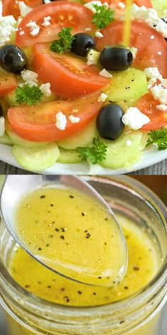 This Apple Cider Vinegar Salad Dressing is my favorite homem. - BEST Yummy RecipesThis Apple Cider Vinegar Salad Dressing is my favorite homemade salad dressing, and it's very easy to make. This Apple Cider V Yummy Recipes, Vegetarian Recipes, Cooking Recipes, Yummy Food, Healthy Recipes, Vegan Vegetarian, Tasty, Pasta Recipes, Recipe Pasta