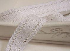 5 m White Nottingham Lace Width 1.6 cm