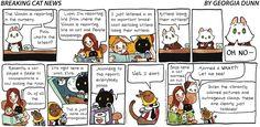 Breaking Cat News by Georgia Dunn for Nov 12, 2017 | Read Comic Strips at GoComics.com