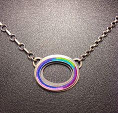 Large Oval Donut Necklace- Cool