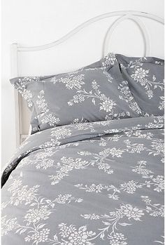 Vine Flower Sham - Set of 2 from Urban Outfitters. Shop more products from Urban Outfitters on Wanelo. Duvet Covers Urban Outfitters, Urban Outfitters Home, White Bedding, Bedding Sets, Sweet Home Alabama, Affordable Bedding, Grey And White, Gray, Flower