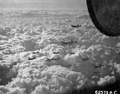 B-24 Liberators in formation 'somewhere over Europe' on the 24th November 1944.