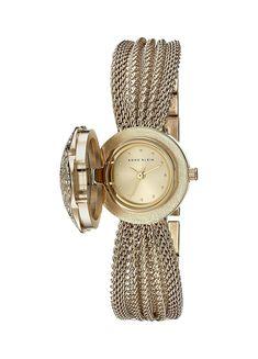 Anne Klein Women's AK/1046CHCV Swarovski Crystal Accented Watch >>> Click on the watch for additional details.