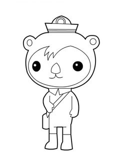 The Octonauts, : Awesome Shellington Sea Otter from The Octonauts Coloring Page