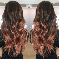 my rose gold balayage - Looking for affordable hair extensions to refresh your hair look instantly? www.hairextension...