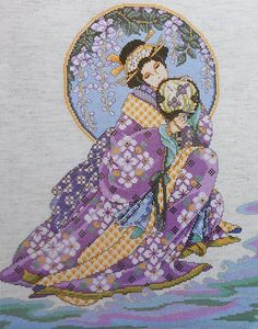 Counted Cross Stitch | ... ORIENTAL LADY BEAUTY Asian - Counted Cross Stitch Pattern Chart - fab