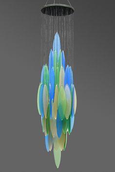 Unique glass windchimes