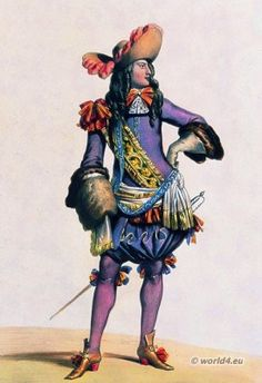 French Lord of King Louis XIV period. 17th century