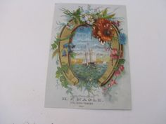 REDUCED- Vintage Advertising Trade Card -H J Nagle Ornamental Confectioner and General Caterer Chicago Illinois- Ephemera card by ScrapPantry, $1.99 USD