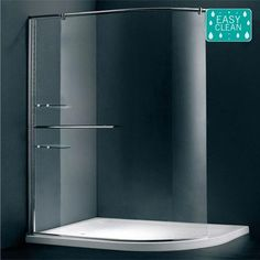 Matrix 1200 x Curved Walk In Shower Screen Walk In Shower Screens, Walk In Shower Enclosures, Shower Doors, Steam Showers Bathroom, Small Bathroom, Bathroom Ideas, Family Bathroom, Bath Shower, Master Bathroom