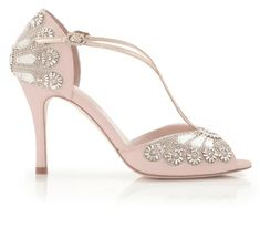 Arabella is a beautiful rose pink version of our iconic Cinderella bridal shoe. This stunning pink bridal sandal is hand embellished with mirror glass pieces and Swarovski crystals, inspired by the famous glass slipper. To highlight the delicate pink we've precisely-placedrose coloured Swarovski crystals Bridal Shoes Wedges, Blue Bridal Shoes, Bridal Sandals, Wedge Wedding Shoes, Designer Wedding Shoes, Bridal Wedding Shoes, Wedding Dresses, Glass Shoes, Bridal Fabric