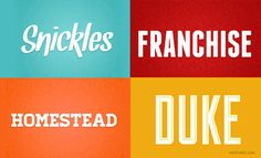 24 Great looking fonts
