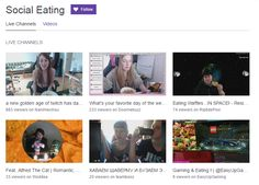Twitch adds a new channel called Social Eating channel