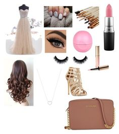 """Prom"" by mary-mara on Polyvore featuring Steve Madden, MAC Cosmetics, River Island, By Terry, Tiffany & Co. and Michael Kors"