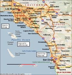 California Coasts Google Search California Pinterest - Southern ca map
