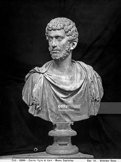 Bust of the emperor Carinus preserved in the Capitoline Museum, Rome - Date of Photo: 1890 ca. - Date of Artwork: 283-285 - Location: Rome - Capitoline Museums