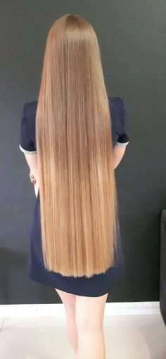 Beautiful Rapunzel length hair-long hair fixation!