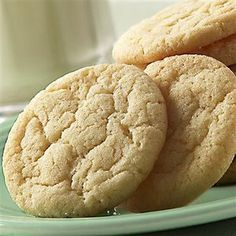 Sugar Cookies - I replaced the cream of tartar and baking soda with baking powder.  They are yummy :)