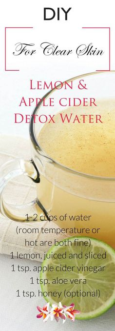 Lemon & Apple Cider Detox Water Recipe