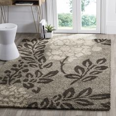 Shop for Safavieh Ultimate Shag Smoke/ Dark Brown Floral Area Rug (6' 7 Square). Get free shipping at Overstock.com - Your Online Home Decor Outlet Store! Get 5% in rewards with Club O!