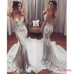 Sparkly Sequins Mermaid Long Prom Dress Evening Dress PD20189315