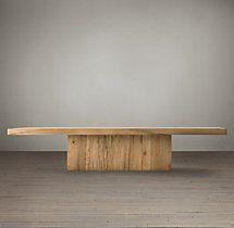 55 x 32 x Reclaimed Russian Oak Plinth Rectangular Coffee Table Rustic Furniture, Luxury Furniture, Furniture Design, Den Furniture, Furniture Ideas, Coffee Table Restoration Hardware, Oak Coffee Table, Rug Sale, Wood Planks