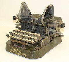 OLIVER No.3 Typewriter 1902 Original Vintage Classic Antique Visible Writer   eBay