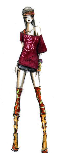 Fashion illustration | Sketch