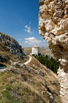 Rocca Calascio, Abruzzo, Italy.Set at 1,500m above sea level, it's the highest fortress in Italy and one of the highest in all of Europe.