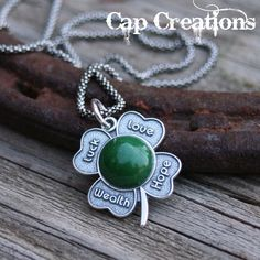 Four Leaf Clover Necklace  by Cap Creations - Everyone Loves an Irish Girl
