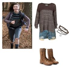 """""""Enid Inspired outfit - twd"""" by shadyannon ❤ liked on Polyvore featuring moda, rag & bone, RVCA y Topshop"""