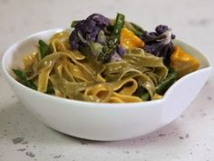 Garden-Style Straw and Hay Pasta with Bagna Cauda Sauce : Recipes : Cooking Channel