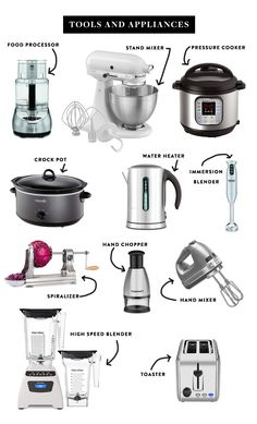 The Essentials for a Great Kitchen if you Love to Cook! See them all on The Fresh Exchange. appliances, The Ultimate List of Kitchen Essentials Kitchen Utensils List, Cool Kitchen Gadgets, Kitchen Hacks, Diy Kitchen, Kitchen Decor, Kitchen Must Haves, Cooking Utensils, Kitchen Items List, Bathroom Gadgets