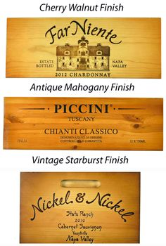 Beautifully Finished Wine Crate Panels - Visit www.winepine.com