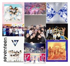 """""""13 Members - 3 Units - 1 Group - Seventeen"""" by dolly-demx ❤ liked on Polyvore"""