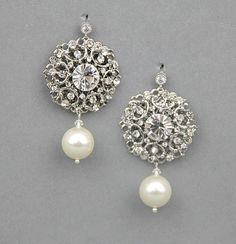 pearl chandelier earrings wedding - Google Search