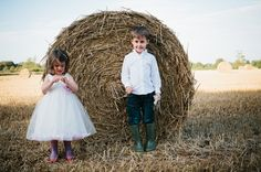 Childrens photo shoot, field full of Hay Bales, Gloucestershire » Wedding Photography Cheltenham and Cotswolds, Vintage Wedding Photography in the Cotswolds & Cheltenham.