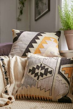7 Desirable Clever Ideas: Decorative Pillows Couch Farmhouse decorative pillows with sayings signs.Decorative Pillows On Bench Cushions decorative pillows gold etsy.Decorative Pillows On Bed Apartment Therapy. Diy Pillows, Couch Pillows, Kilim Pillows, Decorative Pillows, Cushions, Aztec Pillows, Couch Pillow Arrangement, Bright Pillows, Boho Throw Pillows