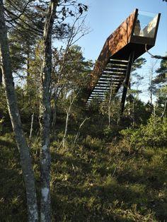 Escada da Floresta em Stokke / Saunders Architecture