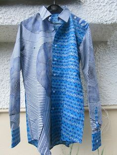 Festival Shirt, WaxPrint, African Style Men's Top, Clothes for Men, Tailored Shirt, Burning Man