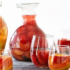 SANGRIA BAR: WATERMELON PLUM SANGRIA! The goal of any party is to get your guests to chat and chill out and here's a taste (er, sip) to get you started: a make-your-own-sangria station!