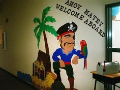 Pirate Welcome Board (Pupil Coins) Classroom Display Photo - SparkleBox