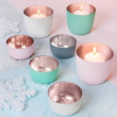 The Best Room Pastel And Rose Gold Votive Holders #affiliatelink
